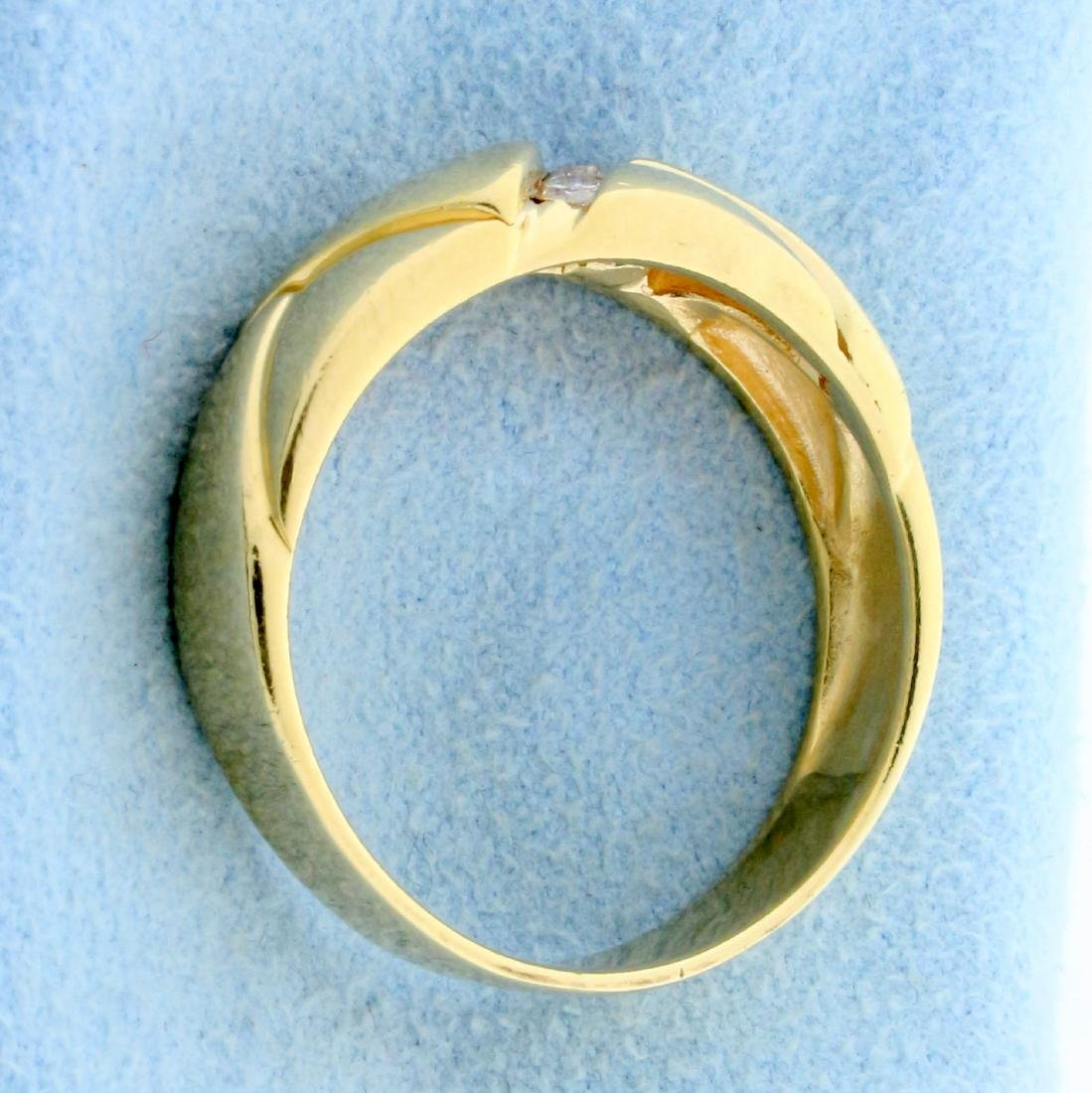 Men's Diamond Wedding or Anniversary Band Ring in 14K - 3