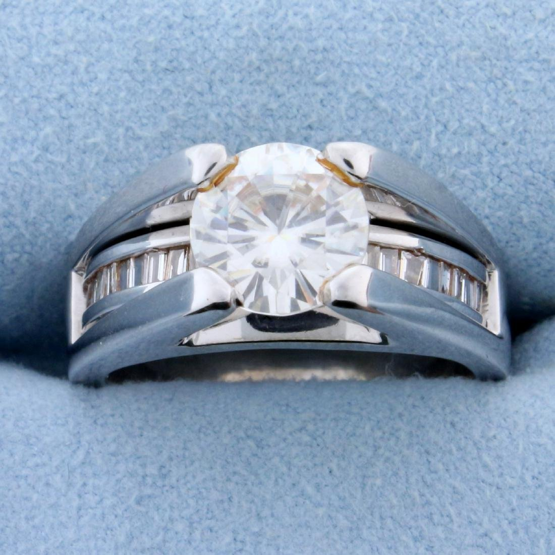 Over 2ct TW Diamond Engagement Ring in 14k White Gold