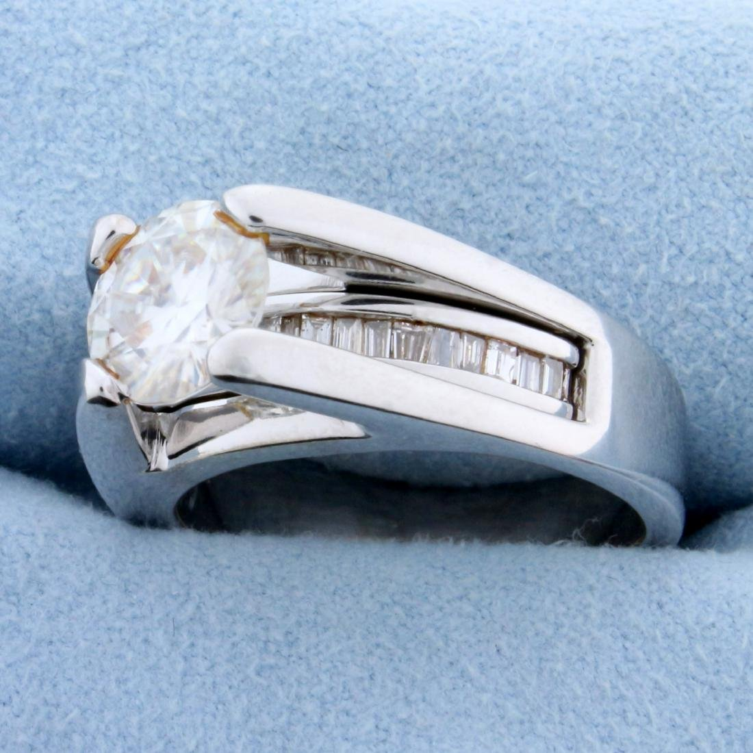 Over 2ct TW Diamond Engagement Ring in 14k White Gold - 2