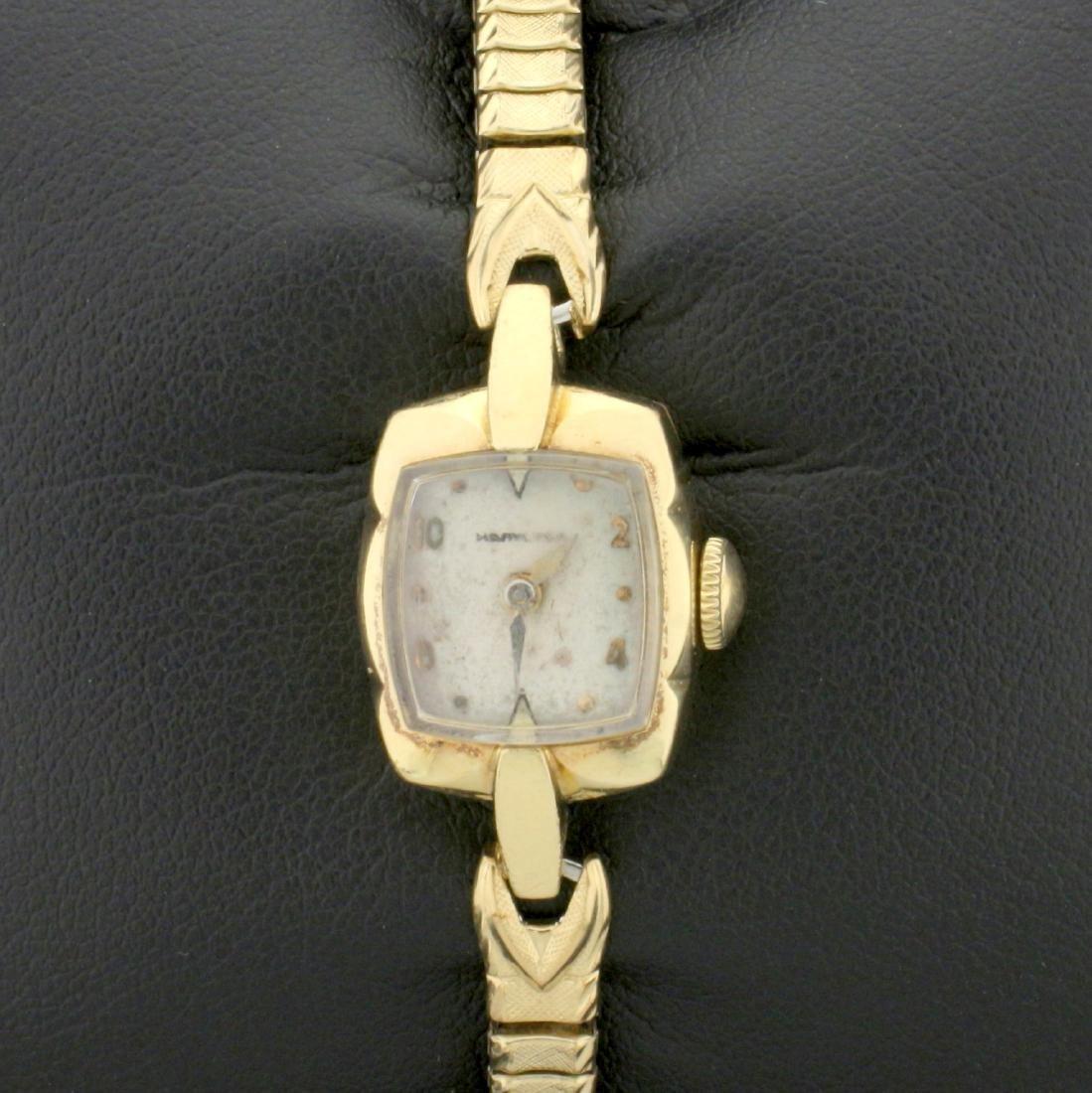 Antique 14k Solid Gold Case Woman's Hamilton Windup