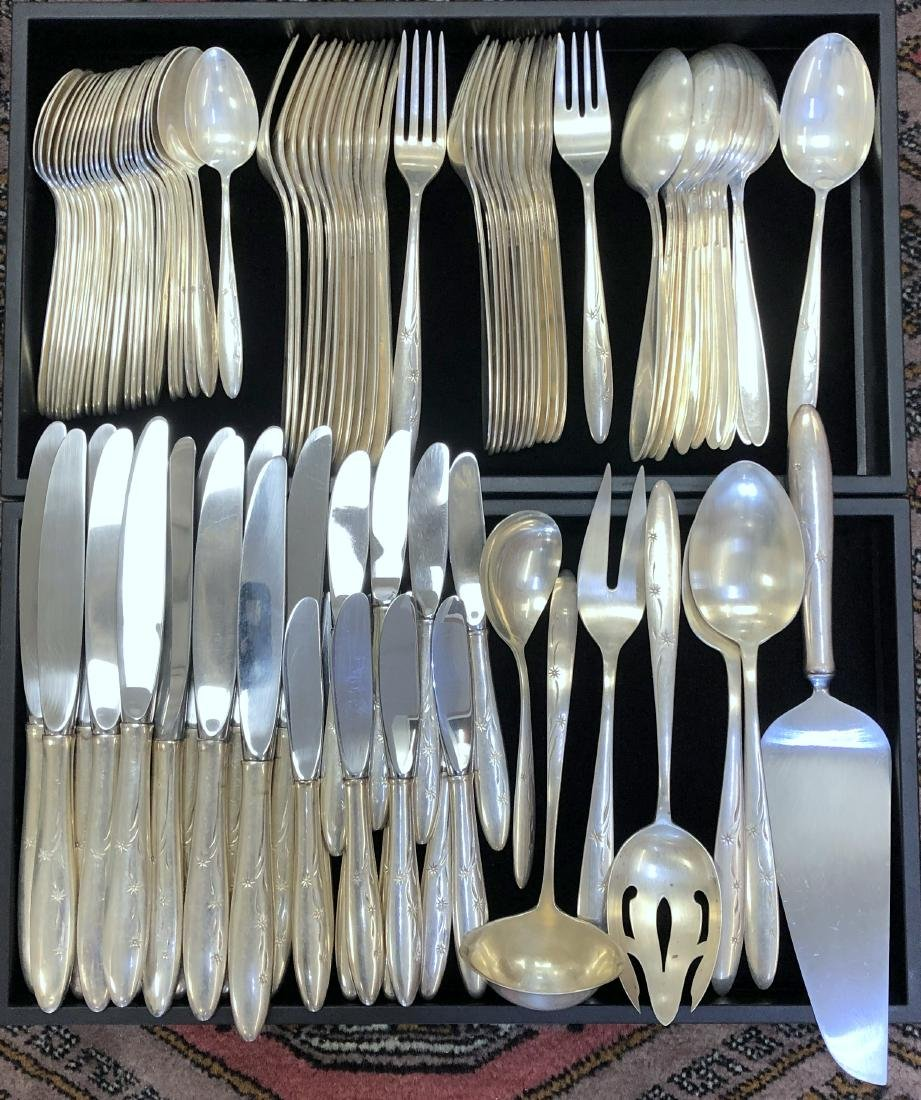 91-Piece Gorham Celeste Sterling Silver Flatware Set