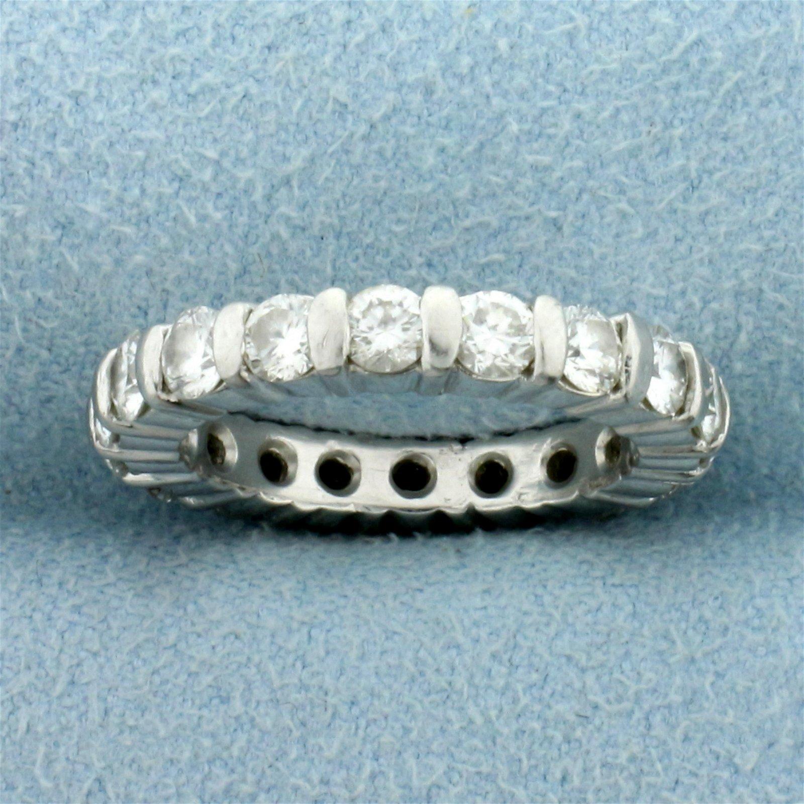 1.8ct TW Diamond Eternity Band Ring in Platinum