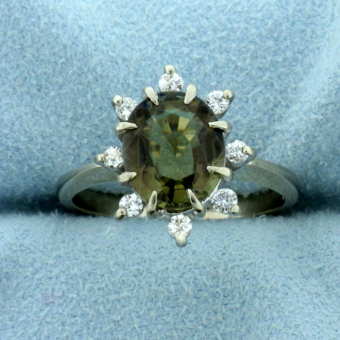 3.25ct TW Natural Alexandrite and Diamond Ring in 14K