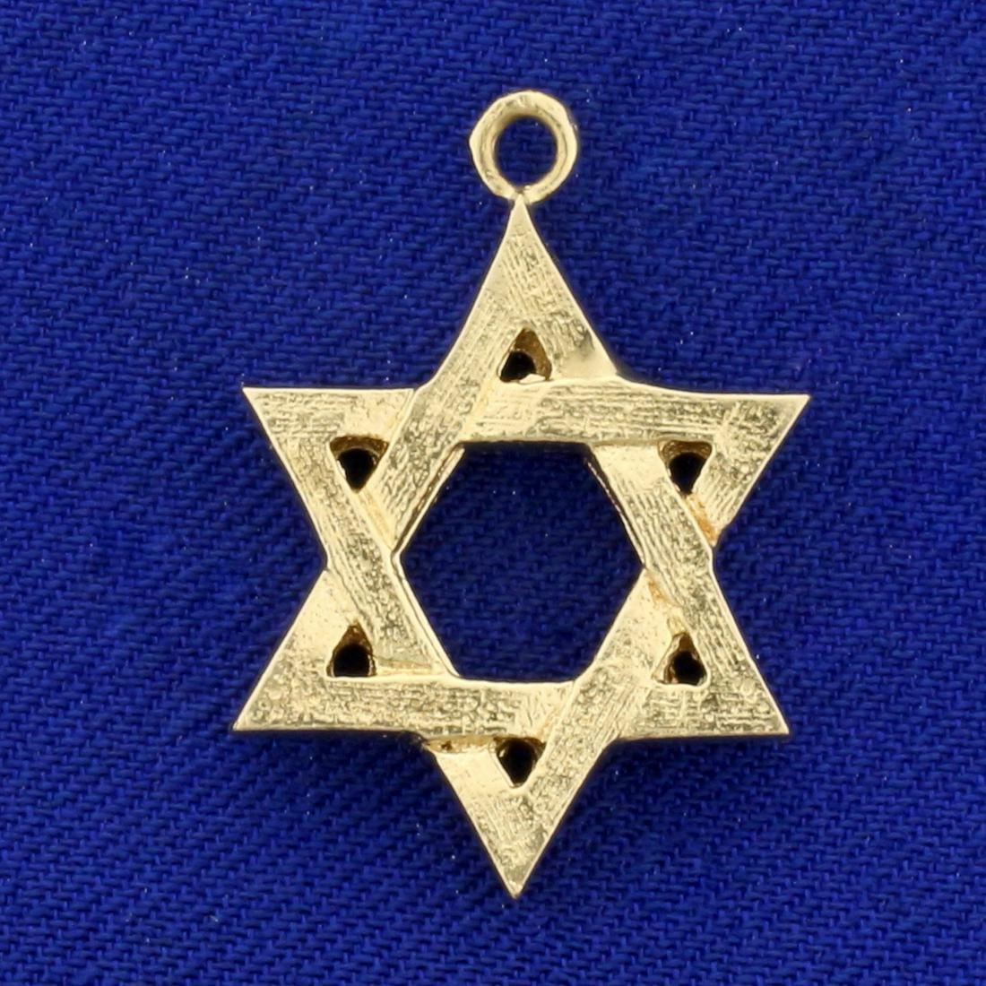 Jewish Star of David Pendant in 14K Yellow Gold