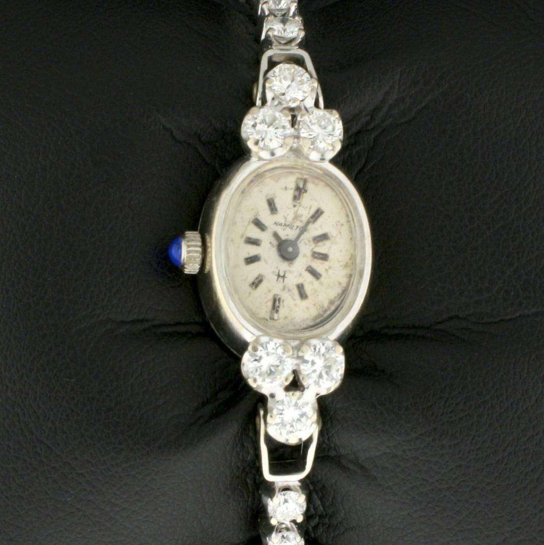 Vintage 2ct TW Diamond 14k Solid Gold Hamilton Women's
