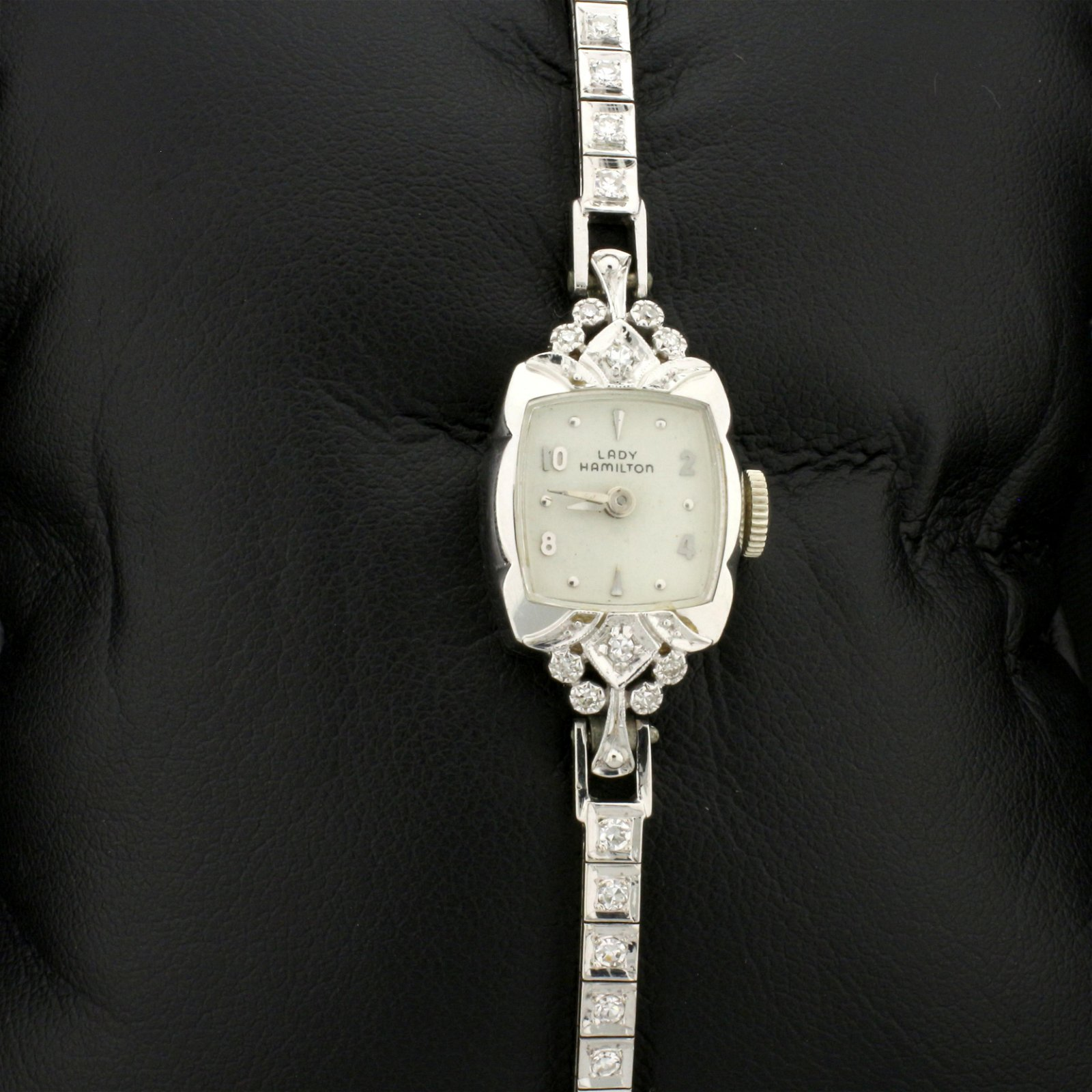 Antique Ladies Hamilton 14k Solid Gold Diamond Watch