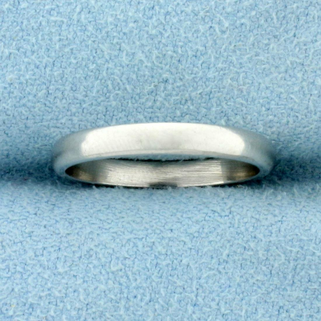 Thin Gold Wedding Band Ring in Platinum
