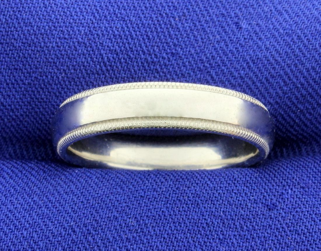 Scott Kay Designer Platinum Wedding Band Ring With