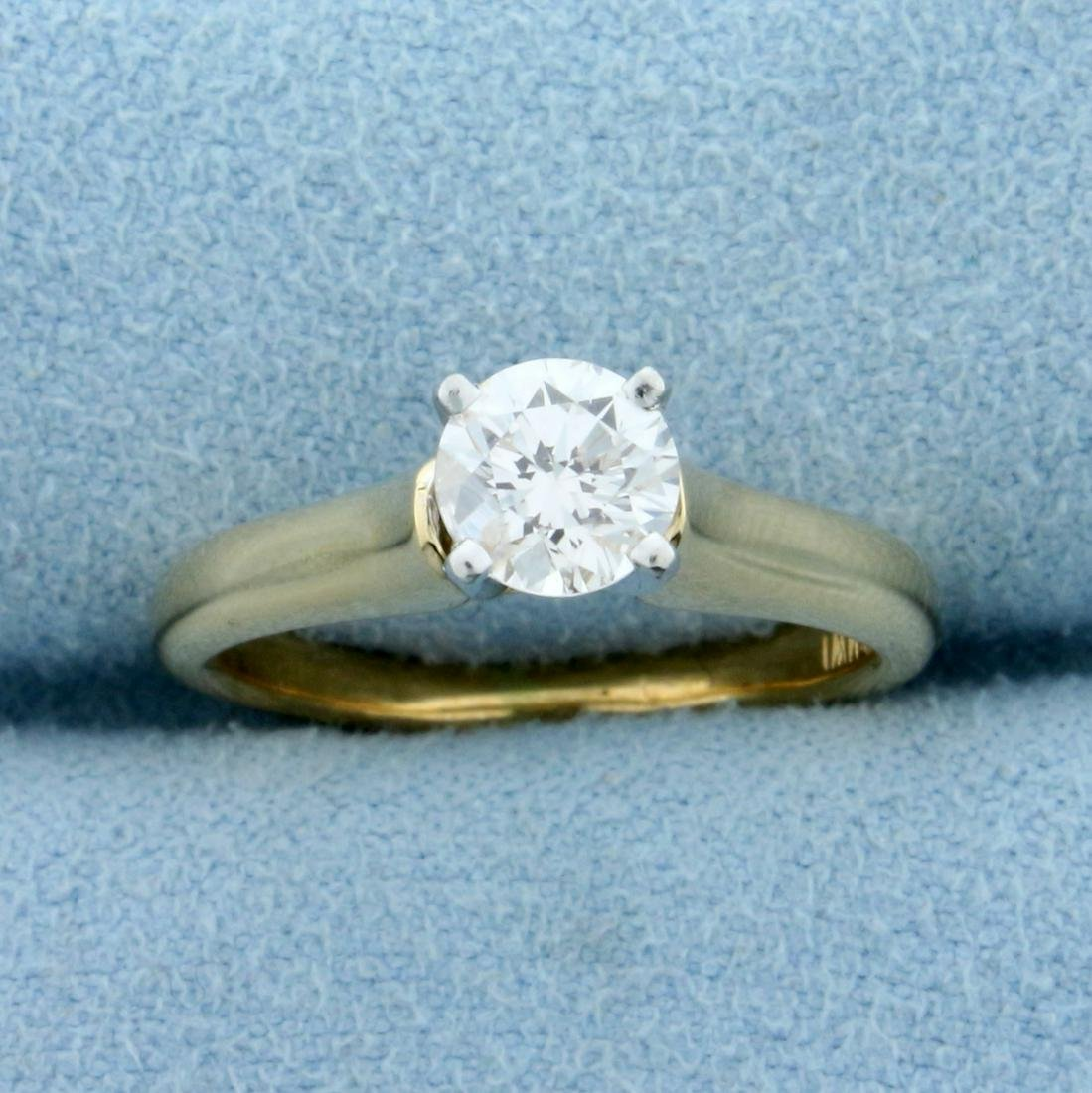 2/3ct Solitaire Diamond Engagement Ring in 18K Yellow