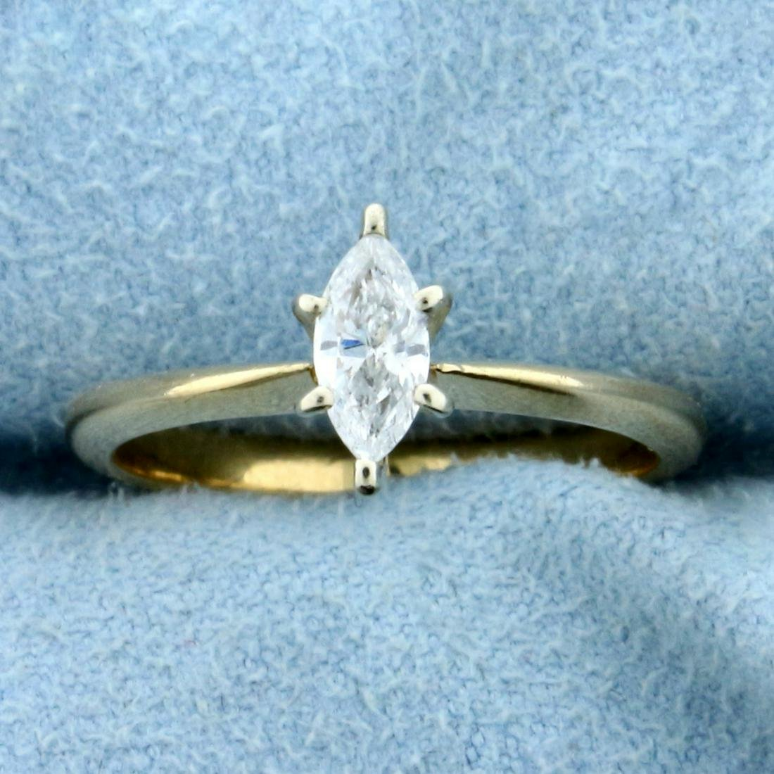 1/3ct Diamond Solitaire Engagement Ring in 14K Yellow