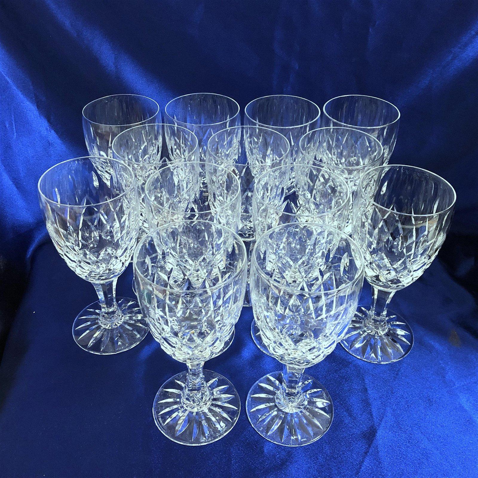 13-Piece Set Royal Brierley Gainsborough Cut Crystal