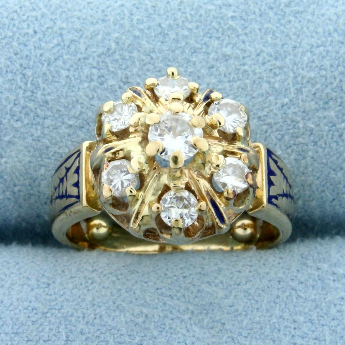 Antique Victorian 2/3ct TW Diamond Ring in 14K Yellow