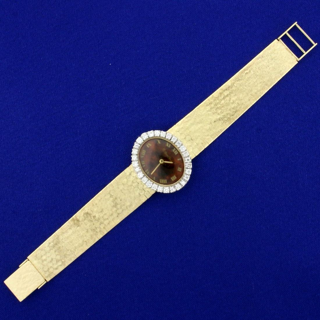 Lucien Piccard Solid Gold Diamond Watch