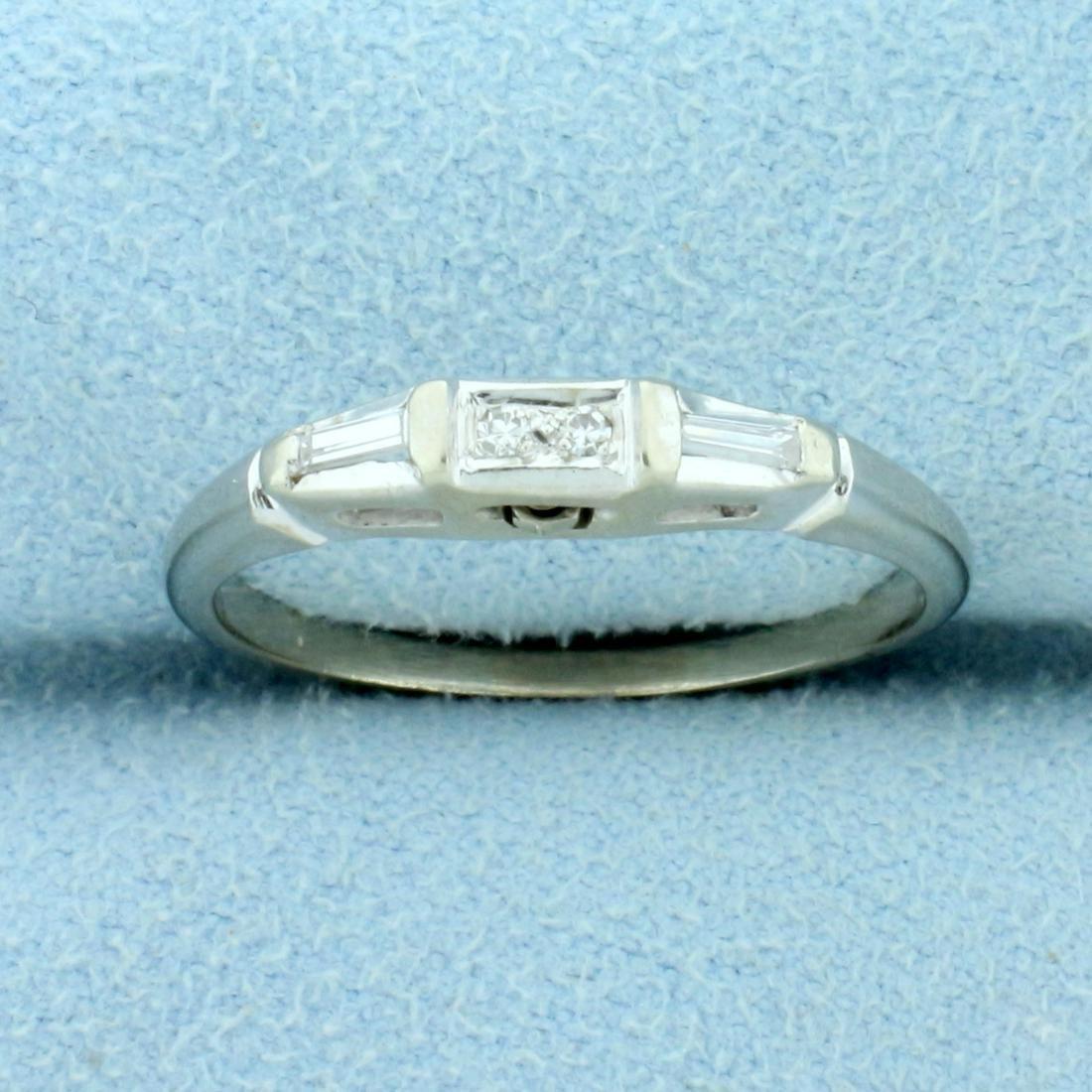 Diamond Ring Band in 14K White Gold