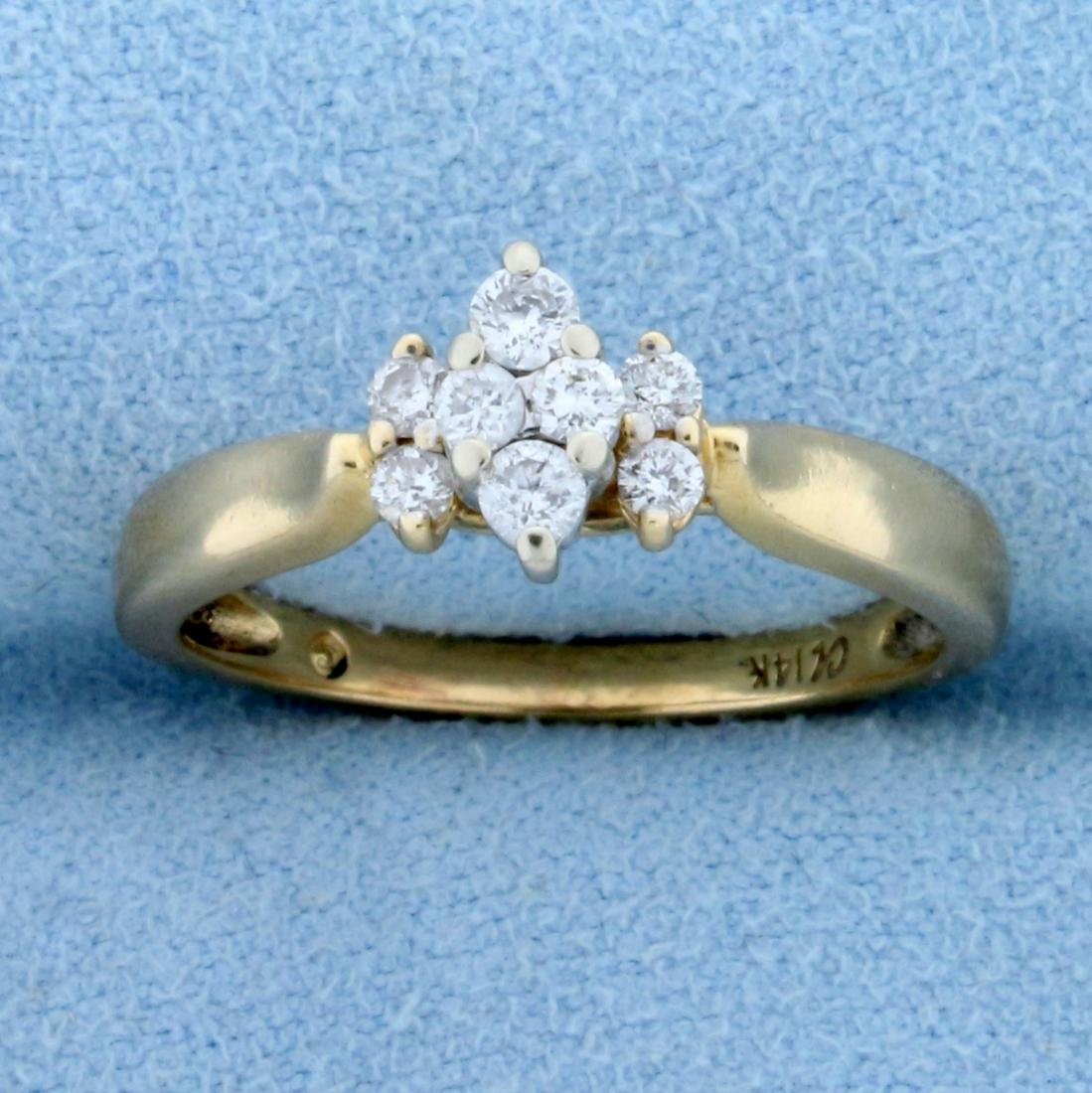 1/3ct TW Diamond Engagement Ring in 14k Yellow Gold