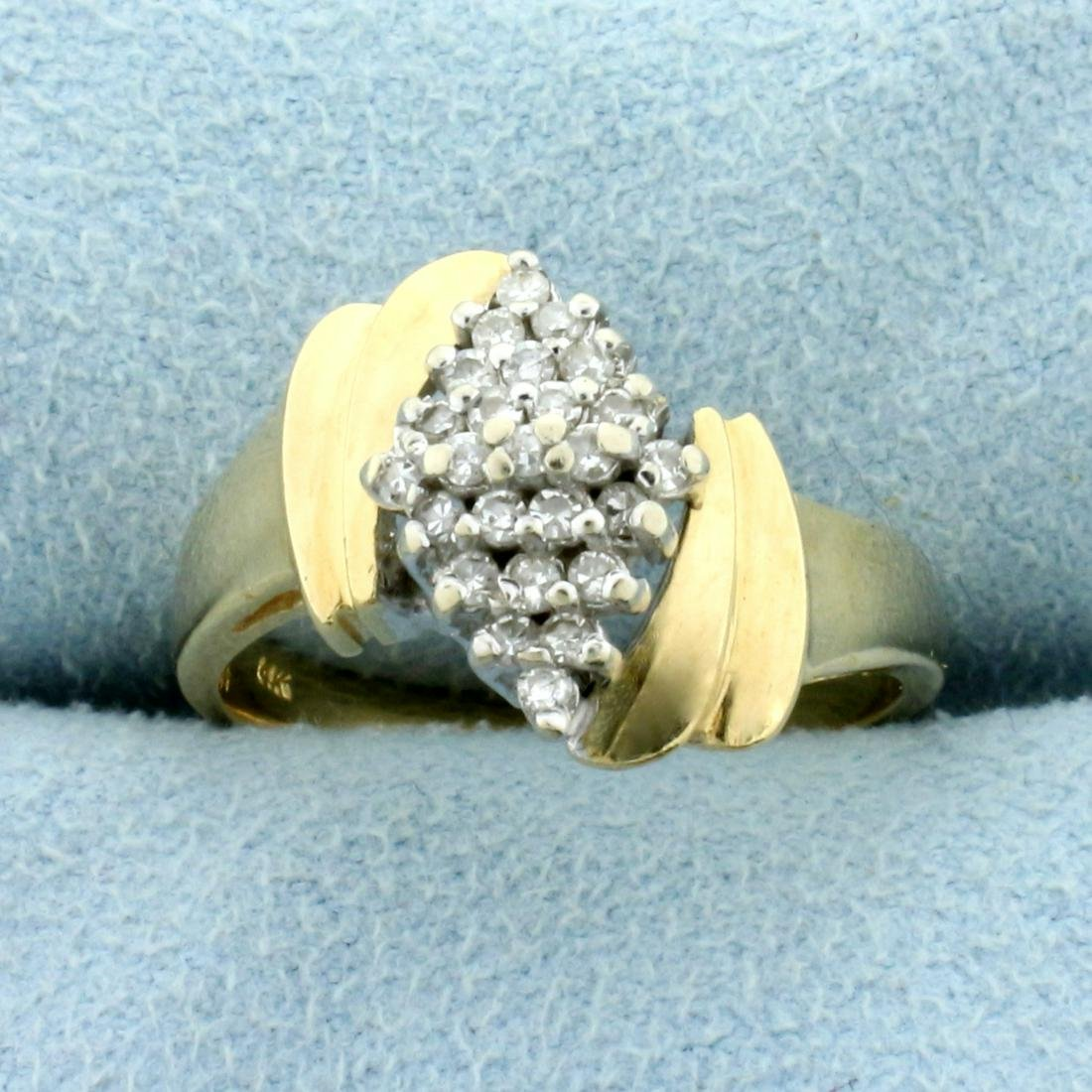 Diamond Cluster Ring in 14K Yellow Gold