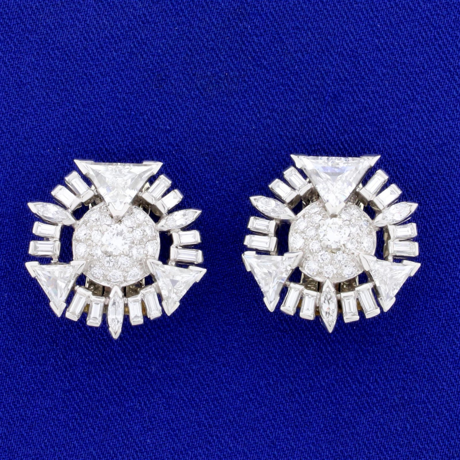 Vintage 10ct TW Trillion, Round, and Baguette Diamond