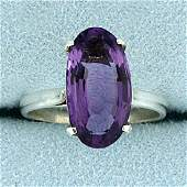 35CT Solitaire Amethyst Ring in Sterling Silver