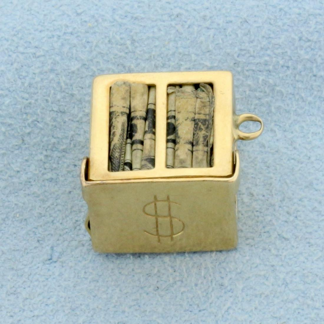 Money Charm or Pendant in 14K Yellow Gold