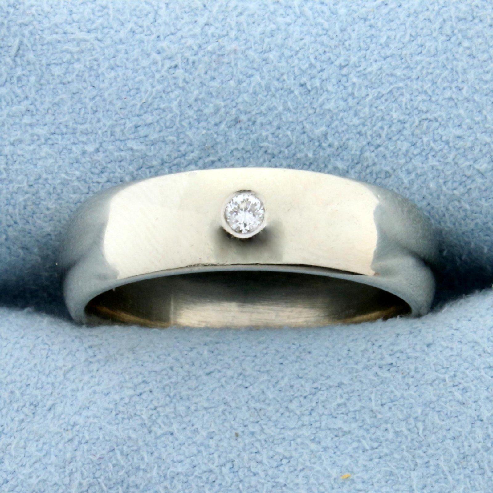 Diamond Wedding or Anniversary Band Ring in 14K White