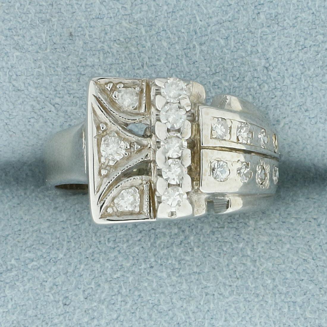 Vintage 1/3ct TW Diamond Ring in 14K White Gold