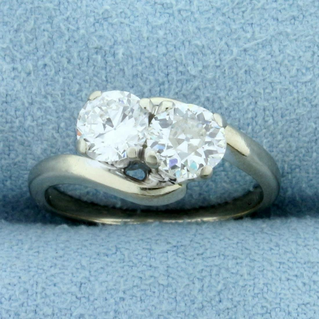 1ct TW Old European and Round Brilliant Two Stone