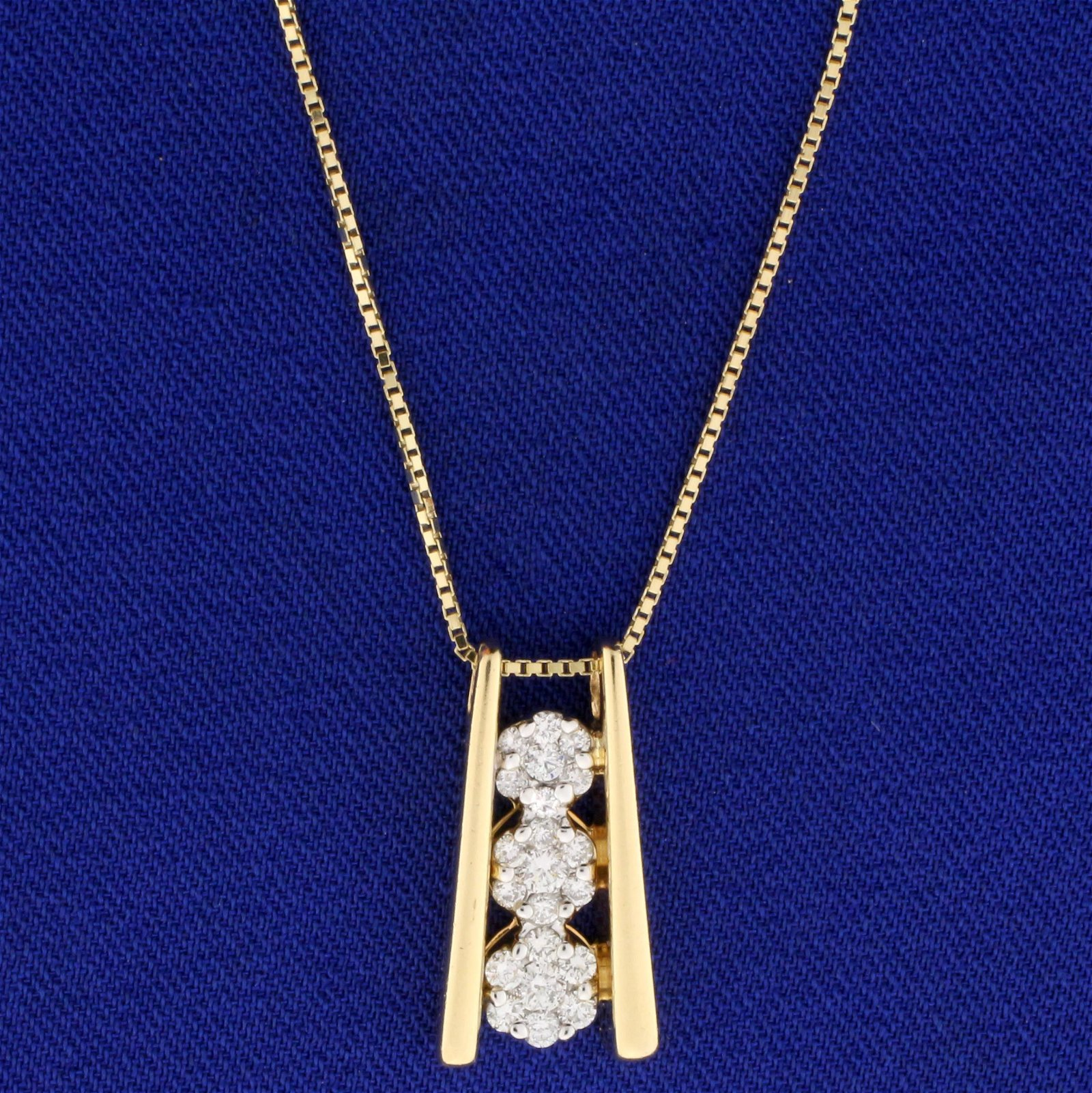 1/2ct TW Diamond Necklace in 14K Yellow and White Gold