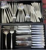 76 Piece Towle Rambler Rose Sterling Silver Flatware