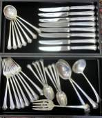 51 Piece Set Towle Chippendale Sterling Silver Flatware