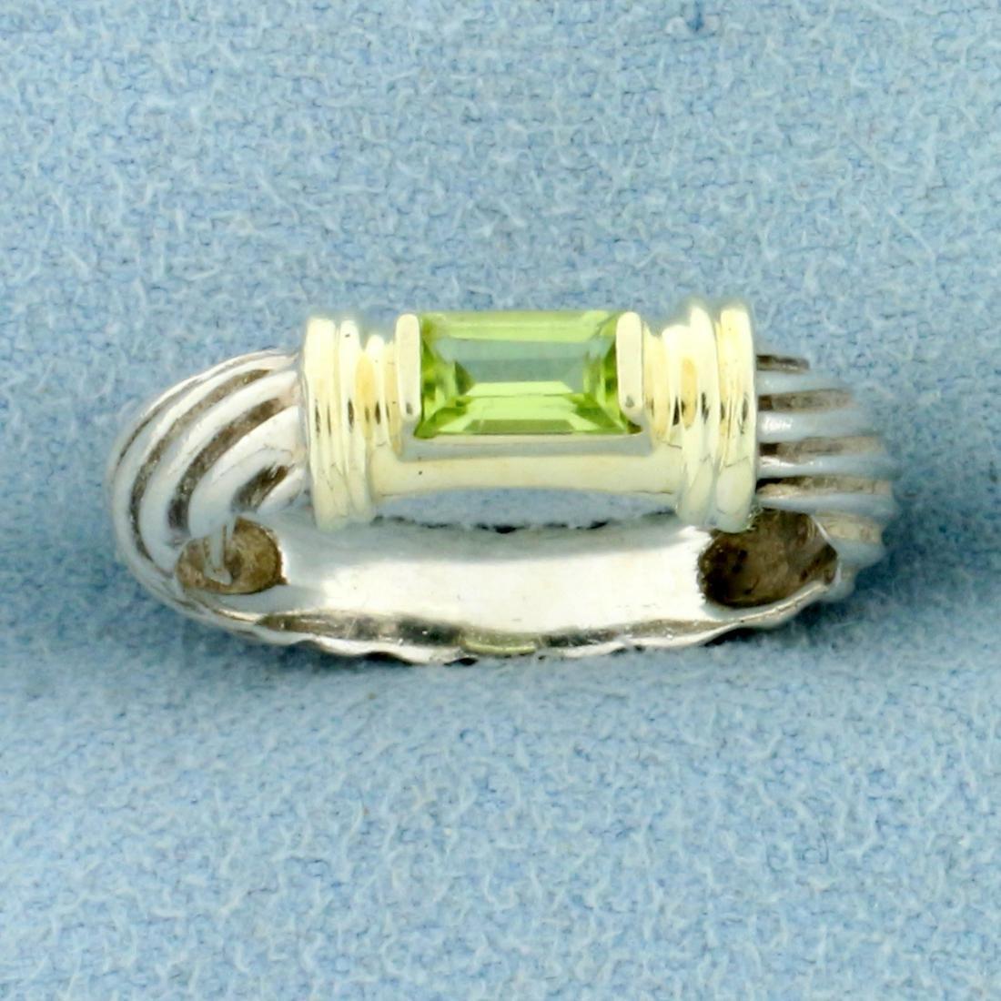 David Yurman Peridot Ring in 14k Yellow Gold and
