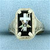 Vintage Filigree Order of the Eastern Star Masonic Ring