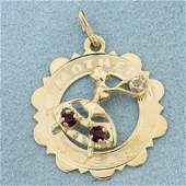 Mother Dear Amethyst and White Sapphire Pendant or