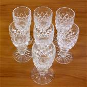 Set of Seven Waterford Crystal Boyne Cordial Liqueur