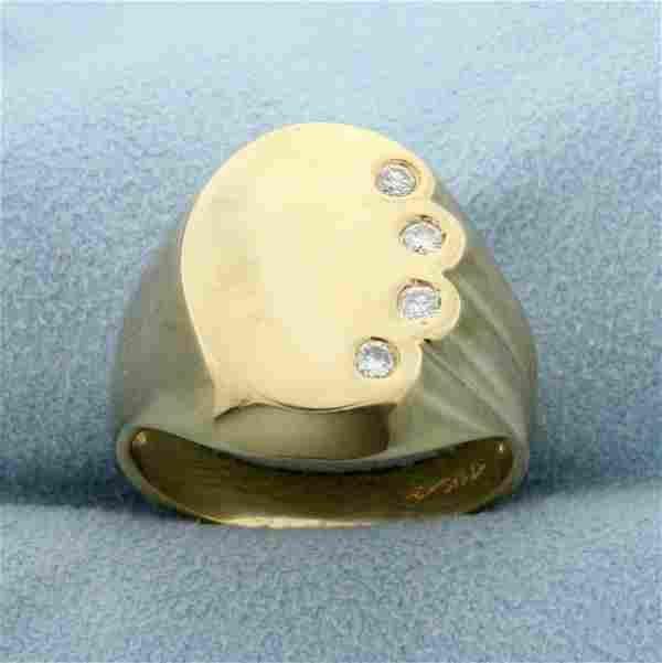 Unique Designer 1/4ct TW Diamond Ring in 14K Yellow