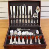 Towle Rambler Rose Sixty Piece Sterling Silver Flatware