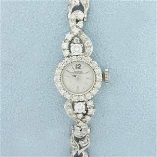 Ladies Vintage Diamond Girard Perregaux Windup Watch in