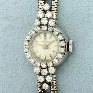 Vintage Womens Bucherer Diamond Wrist Watch in Solid