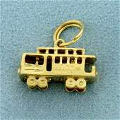 San Francisco Cable Car Charm or Pendant in 14K Yellow