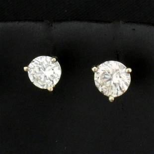 1ct TW Diamond Stud Earrings in 14k White Gold Martini