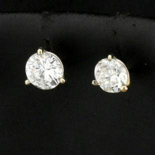 1ct TW Diamond Stud Earrings in 14k White Gold Martini