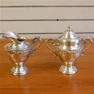 Vintage Sterling Sugar and Creamer Coffee or Tea Set in