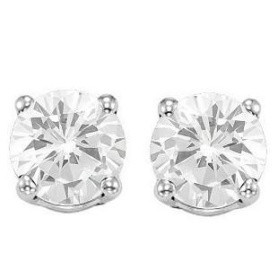6MM White Topaz Stud Earrings in Sterling Silver