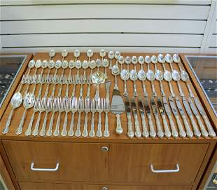 77 Piece Sterling Silver Lunt Mignonette Flatware Set