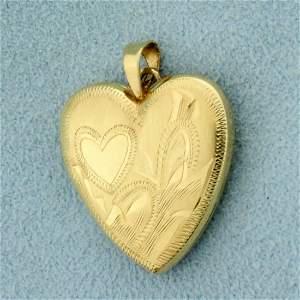 Vintage Heart Locket in 14K Yellow Gold