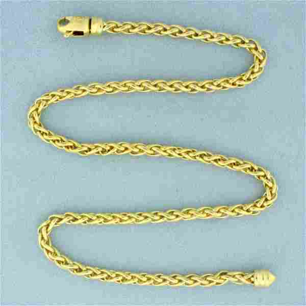 Authentic David Yurman Wheat Chain Necklace in Solid