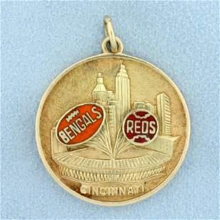Vintage Cincinnati Bengals and Cincinnati Reds Pendant
