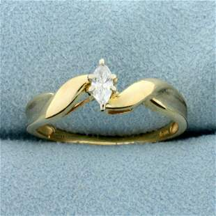 1/4ct Marquise Diamond Solitaire Engagement Ring in K