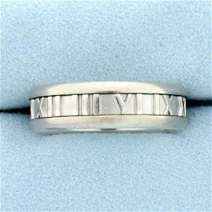 Tiffany & Co Atlas Band Ring in 18K White Gold