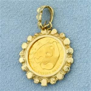 Chinese 5 Yuan Panda Coin Pendant in 14K Yellow Gold