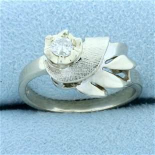 Vintage Edwardian Abstract Design Solitaire Diamond